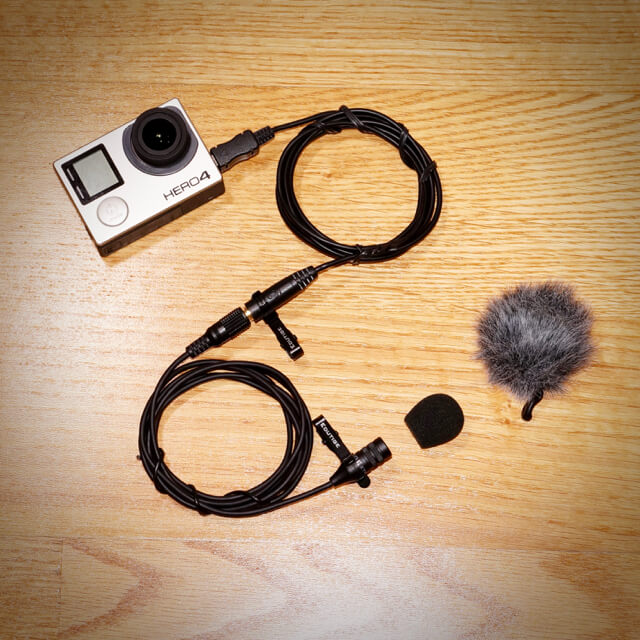 Edutige ETM-006 external microphone for GoPro
