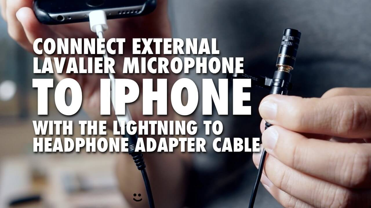 connect eim 003 external lavalier microphone to iphone with lightning to headphone adapter. Black Bedroom Furniture Sets. Home Design Ideas