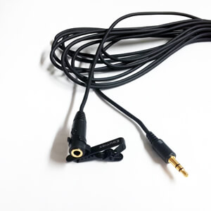 Extension cable for GoPro external microphone