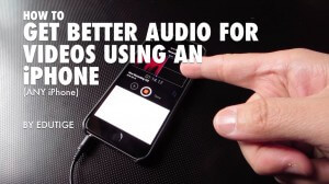 How to use iPhone for separate audio for videos