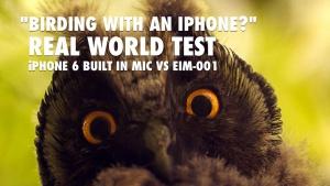 Edutige EIM-001 for birding with iPhone